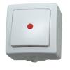 Kopp nyomógombos villanykapcsoló, jelzőfénnyel