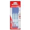 KORES Golyóstoll, 0,7 mm, kupakos, KORES K1-M, kék (IK37114)