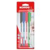 KORES Golyóstoll készlet, 0,7 mm, kupakos, KORES K1-M, vegyes színek (IK37154)