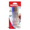 """KORES Golyóstoll készlet, 0,7 mm, kupakos, KORES """"K1-M"""", vegyes színek"""