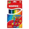 KORES JUMBO színes ceruza, háromszögletű, 12 db/doboz