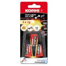 """KORES Pillanatragasztó gél, 3x1 g, KORES """"Power Glue Gel"""" ragasztó"""