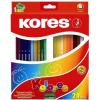 """KORES Színes ceruza készlet, háromszögletű, KORES """"Triangular"""", 24 különböző szín (IK100324)"""