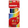 """KORES Színes ceruza készlet, hatszögletű, KORES """"Hexagonal"""", 12 különböző szín (IK100112)"""