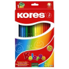 """KORES Színes ceruza készlet, hatszögletű, KORES """"Hexagonal"""", 36 különböző szín"""