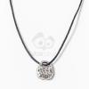 Kosárka medál textil nyakláncon - ezüst bevonatos jwr-1173