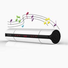 KR-8800 sztereó Bluetooth hangszóró FM rádióval és NFC-vel, fehér aktív hangfal
