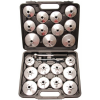 Kraftmann 23 részes olajszűrő leszedő kupak klt., alumínium fröccsöntött