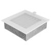 Kratki Fehér Szellőzőrács Standard 17x17 Redőnnyel