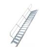 KRAUSE - Ipari lépcső 600mm 60° bordázott alu fokkal 10 fokos