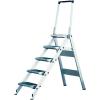 KRAUSE - Összecsukható lépcső lehajtható kapaszkodókerettel 3 fokos
