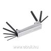 Kreator imbuszkulcs készlet összecsukható, fém tartó, 8db-os 2, 5-10mm gömbvégű