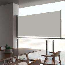 Krémszínű kihúzható oldalsó terasz napellenző 60 x 300 cm kerti dekoráció