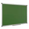 Krétás tábla, zöld felület, nem mágneses, 120x240 cm, alumínium keret,
