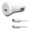 KSIX USB Autós Töltő KSIX MFI 18W Fehér