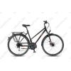 KTM Life Ride 2018 női trekking kerékpár 24 fokozatú Acera váltó, hidr. tárcsafék, matt fekete (szürke/narancs) 46cm