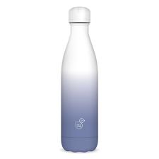 Kulacs duplafalú ARS UNA fém BPA-mentes 500 ml fehér-szürke kulacs, kulacstartó