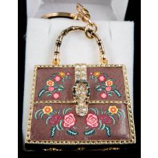 kulcstartó - Bordó női táska