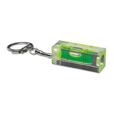 . Kulcstartó vízszintmérővel, műanyag, átlátszó zöld kulcstartó
