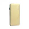 Külső akkumulátor, 10000 mAh, Okostelefonhoz és TabletPC-hez, gyorstöltő funkció, USB aljzat, arany