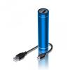 Külső akkumulátor, 2300mAh, Okostelefonhoz és TabletPC-hez, henger alakú, kék