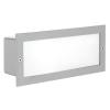 Kültéri falba építhető lámpa E27 1X60W alumíniumöntvény-ezüst IP44 Zimba EGLO