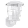 Kültéri fali lámpa fel E27 1X60W alumíniumöntvény-fehér/áttetsző-műanyag IP44 Aloria EGLO
