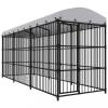 Kültéri kutyakennel tetővel 450 x 150 x 210 cm