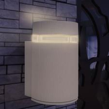 Kültéri szürke alumínium fali lámpatest kültéri világítás
