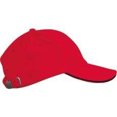 KUP Orlando baseballsapka, 6 paneles,U, piros/fekete