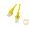 Lanberg Patchcord RJ45 cat. 5e UTP 0.25m yellow