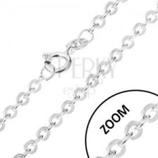 Lánc felvátva összekapcsolt ovális szemekből, ezüst 925, 1,4 mm nyaklánc