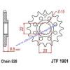 Lánckerék első JTF1901SC 520 13 fogas