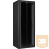 """Lande LN-FS42U8010-BL-111 DYNAmic 42U 800x1000 álló rack szekrény 19"""" RAL9005 fekete"""