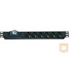 Lande LN-PRZ-SGT-1U6P-IE Hálózati elosztó 1U 1x16A kismegszakító 6 x IEC320
