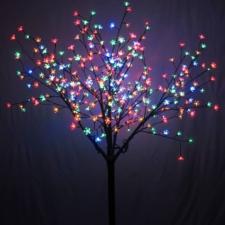 LED-es sakura fa, színes karácsonyi dekoráció
