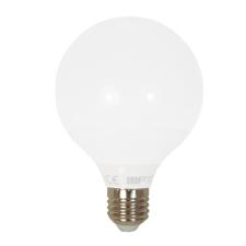 LED lámpa , égő , gömb , G95 , E27 foglalat , 12 Watt , meleg fehér izzó