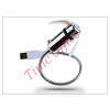 LED SOUND USB ventilátor színes LED világítással, flexibilis nyakkal