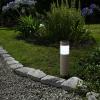 Ledes szolár lámpa, kőmintás, műanyag