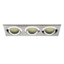 LEDvonal Beépíthető spot lámpatest , négyszögű , tripla keret , 3 x MR16 , 3 x GU10 ,... világítás