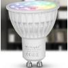 LEDvonal LED lámpa , égő , szpot , GU10 foglalat , 4 Watt , RGB + fehér , állítható fehér...