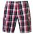 Lee Cooper férfi rövidnadrág - Lee Cooper Check Shorts Mens Red Navy White