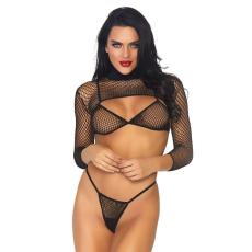 Leg Avenue 3 részes necc bikini szett (81583)