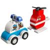 LEGO DUPLO Tűzoltó helikopter és rendőrautó (10957)