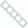 LEGRAND Céliane ötös keret fehérüveg 069320