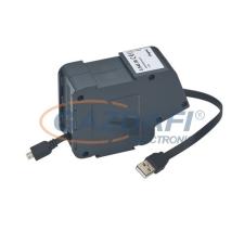 LEGRAND USB/micro USB lapos vezetékkel 1 modulos visszahúzható szett villanyszerelés
