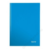 Leitz Beíró, A4, kockás, 80 lap, keményfedeles, lakkfényű, LEITZ Wow, kék (E46261036)