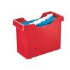 """Leitz Függőmappa tároló, műanyag, 5 db függőmappával, LEITZ """"Plus"""", piros"""