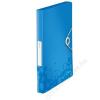 Leitz Gumis mappa, 30 mm, PP, A4, LEITZ Wow Jumbo, kék (E46290036)