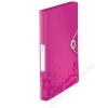Leitz Gumis mappa, 30 mm, PP, A4, LEITZ Wow Jumbo, rózsaszín (E46290023)
